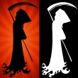 Stock Vector: Grim Reaper Set