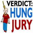 Stock Vector: Hung Jury