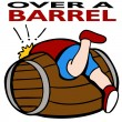 Over a Barrel — Stock Vector