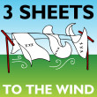 Three Sheets to the Wind — Stock Vector
