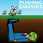 Pushing daisies — Stockvektor