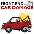 Stock Vector: Front End Car Damage