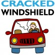 Stock Vector: Cracked Windshield