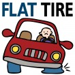 Stockvektor : Flat Tire