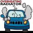 Overheating Radiator — Stock Vector