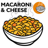 Macaroni and Cheese — 图库矢量图片