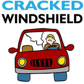 Cracked Windshield — Stock Vector