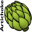 Stock Vector: Artichoke
