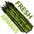 Royalty-Free Stock Vector Image: Fresh Asparagus
