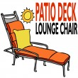 Patio Deck Lounge Chair — Stock Vector