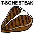 Vector de stock : T-Bone Steak