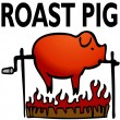 Roasted Pig — Stock Vector