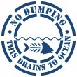 No Dumping Sign - Stock Vector
