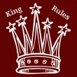King Rules — Stock Vector