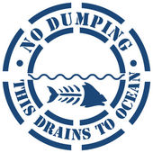No Dumping Sign — Stock Vector