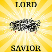 Lord Savior Thorn Crown — Stock Vector