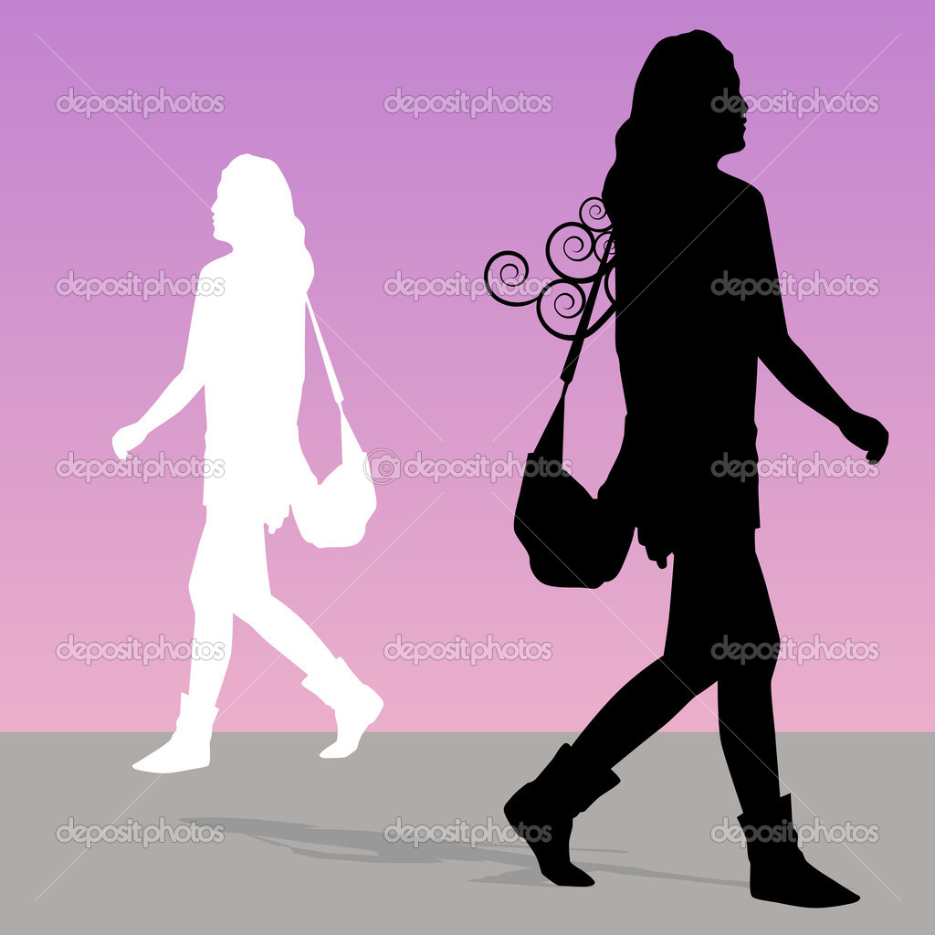 Woman Walking with Purse — Stock Vector © cteconsulting ...