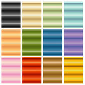 Window Blinds Shades Set — Stock Vector