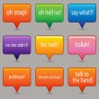 Royalty-Free Stock Imagem Vetorial: Brightly Colored Messaging Windows