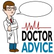 Serious Doctor Giving Advice — Stock Vector