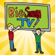 Big Screen Television — Stock Vector