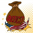American Deficit - Stock Vector