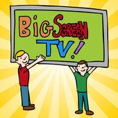 Big Screen Television — Stock Vector