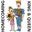 Stock Vector: Homecoming King and Queen