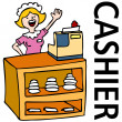 Royalty-Free Stock Vector Image: Fast Food Cashier Worker