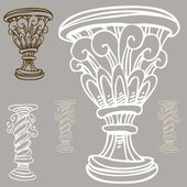 Vase and Urn Set — Stock Vector