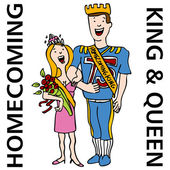 Homecoming King and Queen — Stock Vector