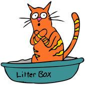 Kitty Litterbox — Stock Vector
