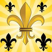 Golden Fleur-De-Lis — Stock Vector