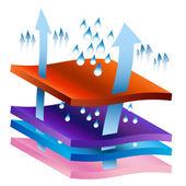 Gráfico de processo umidade wicking — Vetorial Stock