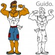 Guido Character — Stockvektor