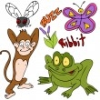 Stock Vector: Bugs Animals Plants