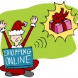 Shopping Online — Stock Vector