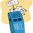 Full Mailbox — Stock Vector