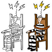 Electric Chair — Stock Vector