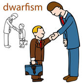 Dwarfism — Stock Vector