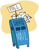Full Mailbox — Stock Vector