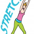 Stretching Exercises — Stock Vector
