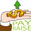 Stock Vector: Pay Raise