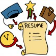 Stock Vector: Resume Categories