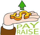 Pay Raise — Stock Vector