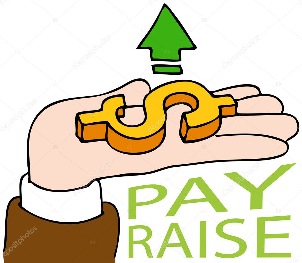 An image of a pay raise business hand. — Stock Vector #4576428