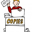 Stock Vector: Making Making Copies