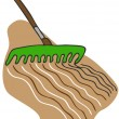 Stock Vector: Raking Soil
