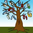 Shoe Tree — Stockvectorbeeld