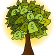 Royalty-Free Stock Vector Image: Money Bag Tree Drawing
